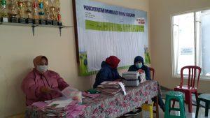 Pelaksanaan Posyandu di Rukun Warga IX Dusun Srebet Timur Desa Pesanggrahan